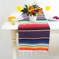 Mexican Serape Tablecloth Table Runner For Party Wedding Decor Fringe Cotton