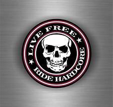 Sticker car motorcycle helmet decal vinyl chopper biker live to ride free