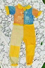 VINTAGE 1940's / 50's LARGE CHILD SIZE CLOWN HALLOWEEN COSTUME W BELLS