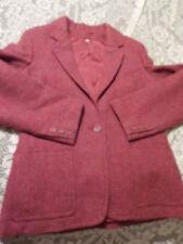 Womens Elysee Soiries  Blazer  Sz M  Red Vintage Wool Designer Jacket Junior 13