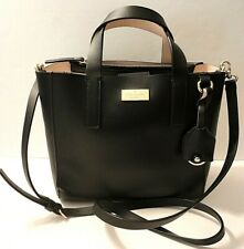 Kate Spade New York Genuine Leather Tote Crossbody Shoulder Purse Bag Tag Charm
