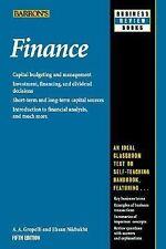 Finance (Barron's Business Review), Nikbakht, Eshan, Groppelli, A.A., Good Book