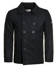 Superdry Coat Men Rookie Peacoat Charcoal Herringbone M