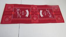 "Valentine's Day 36"" Table Runner Red/White Home is Where the Heart Is NEW"