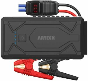 Arteck 1200A Peak Portable Car Jump Starter Power Bank Pack Battery Charger 12V