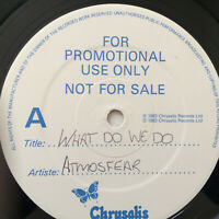 """Atmosfear – What Do We Do  1983 UK Vinyl 12""""  CHS 12 2730 Promo  NMint  UNPLYD"""