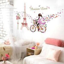 Wandaufkleber Kinderzimmer Wandsticker Prinzessin Blumen Tiere Schlafzimmer