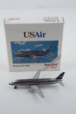 1/500 Herpa Wings USAir Chrome Boeing 737-400 501217 Model Aircraft Diecast