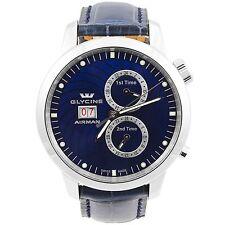 Glycine Airman 7 Blue Multiple Timezones GMT Automatic Men's Swiss Watch 3919.18