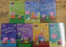 7 EDUCATIONAL PEPPA PIG BOOKS by VARIOUS AUTHORS  ** £3.25 UK POST ** HARDBACK