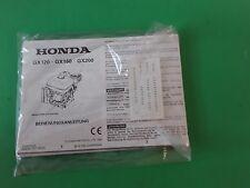 HONDA BEDIENUNGSANLEITUNG GEBRAUCHSANLEITUNG für Motor  GX 120, GX 160, GX 200