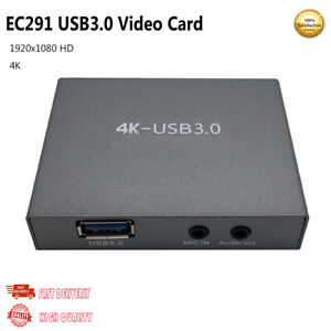 EC291 USB 3.0 HDMI HD Video Card For OBS Recorder Support 4K Input/Output 1080P
