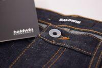 "Baldwin ""The Samuel"" NWT Five-Pocket Selvedge Denim Jeans Size 34 in Dark Blue"