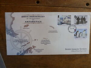 2019 BRITISH ANTARCTIC 200th ANNIV DISCOVERY OF ANTARCTICA SET 3 STAMP FDC