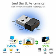 Dual Band 2.4/5Ghz 1200Mbps Wireless USB WiFi Network Adapter 802.11AC Dongle X1