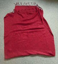 Schal Tuch m.Fransen rot 68x180 cm(gemessen ohne Fransen)*TOP* in sich gemustert