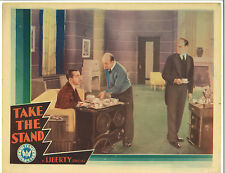 TAKE THE STAND (1934) LOST FILM Murder Mystery with Vince Barnett ART DECO
