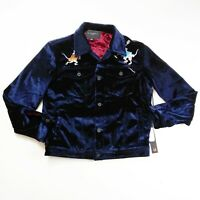 Cult of Individuality mens button Jacket size Medium 100%AUTHENTIC royal blue