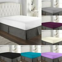 """EXTRA DEEP 16""""/40CM FITTED SHEET 100% EGYPTIAN COTTON HOTEL QUALITY BED SHEETS"""