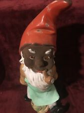 "Vintage German Heissner Gnome With Pipe In Mouth 14"" High"