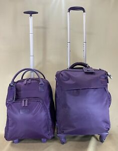 """Set of 2 Lipaullt Luggage Plume Carry On 17"""" Upright Bag & 20""""Spinners Suitcase"""