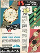 PUBLICITE ADVERTISING 095  1962  PHILIPPE  montre SUPREMATIE