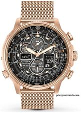 Citizen JY8033-51E Men's Navihawk A-T Rose Gold Tone Perpetual Calendar Watch