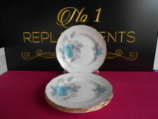 4 x Royal Standard Fine Bone Chine Blue Roses Side Tea Plates