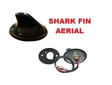 BLACK SHARK FIN AERIAL ANTENNA UNIVERSAL FIT CAR VAN VEHICLE FM AM