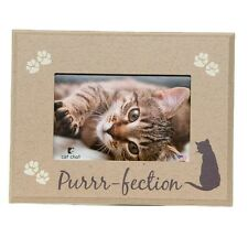 "Dog Speak Cat Lover Picture Frame - ""Purr-fection"" - Made in the Usa"