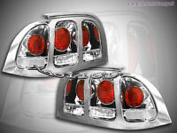 1994-1998 Ford Mustang Tail Lights 1995 1996 1997 chrom