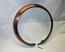 """Antique Copper Finished Trim Ring for Early Harley FL/FLH 7"""" Headlights, Bobber"""