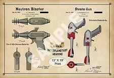 1953 Colorized Patent Print Atomic Space Pistol Ray Gun Strato Disintegrator