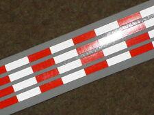 TAMIYA 1/14 AMERICAN style 56302 TRAILER REFLECTIVE Red-White tape strips HI-VIS