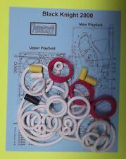 1989 Williams Black Knight 2000 pinball rubber ring kit