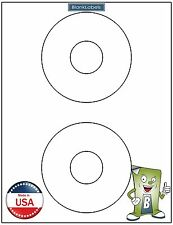 """10 CD/ DVD Laser / Ink Labels - Fits Template Size 5824 4.5"""" Circle 5 Sheets!"""