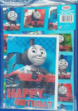 Thomas the Tank Engine wrapping paper  Gift Wrap 1 sheet & Birthday Card