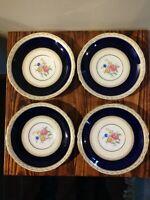Aynsley Harrogate Cobalt Set Of 4 Large Saucers