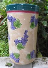 Bois d' Arc Tutti Fruitti Cylinder Vase GRAPES Motif