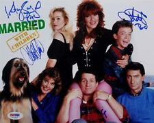 Married With Children Signed 8x10 Photo PSA O'Neill Applegate Faustino Sagal E