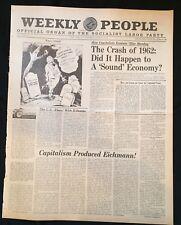 1962 newspaper ADOLF EICHMANN EXECUTED Nazi HOLOCAUST ORGANIZER Judaica WW II