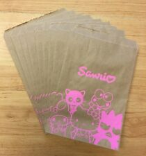 Sanrio 2015 10pc S Reusable Recyclable Double Sided Paper Gift Bags Made in USA