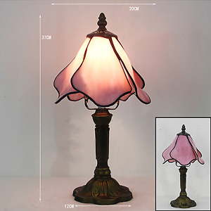 Tiffany Table Lamp,Bedside Lamp, Stained Glass Shade, Lamp Handmade,Bedside Lamp