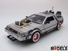 DELOREAN TIME MACHINE BACK TO THE FUTURE III - Ritorno al Futuro Welly 1/24 New