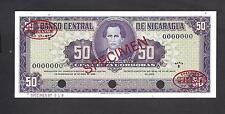 Nicaragua p-119 , UNC, 50 Cordobas, 1968 , SPECIMEN !!