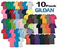 10 Pack Plain Gildan Mens Heavy Cotton Short Sleeve Plain T-Shirt Tee T Shirt