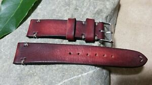 Handmade watch strap  genuine leather oiled,  20mm perfect for your Rolex