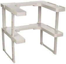 Adjustable Space Rack Kitchen Shelf Cabinet Cupboard Makeup Organizer Set of 2