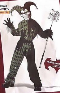 Joker / Scary Clown Costume, child size L, EXCELLENT condition