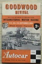 GOODWOOD REVIVAL Sept 2004 Motor Race Meeting Souvenir Programme